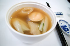Potage chinois d'ormeau Image stock