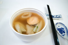 Potage chinois d'ormeau Photographie stock