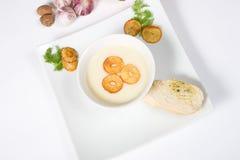 potage crème d'ail Photo libre de droits