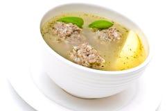 Potage de boulette de viande Image libre de droits