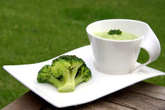 Potage de broccoli Photos libres de droits