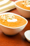 Potage de courge de Butternut Image libre de droits