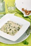 Potage de fines herbes Photographie stock