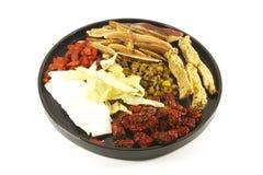 potage de fines herbes chinois d'ingrédients Image stock