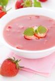 Potage de froid de fraise photos libres de droits