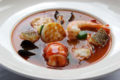Potage de fruits de mer Photographie stock