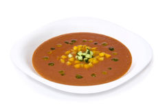 Potage de Gazpacho Photographie stock