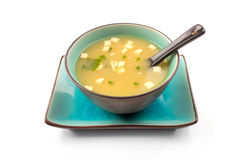 Potage de miso photo stock