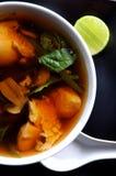Potage de miso de poulet Image stock