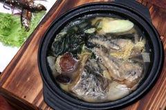 Potage de miso saumoné Photos libres de droits