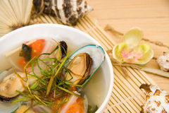 Potage de moule Photo stock