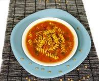 Potage de pâtes de tomate Image libre de droits