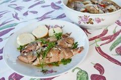 Potage de poissons images stock