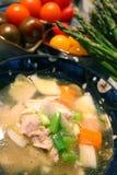 Potage de poulet Photos stock
