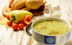 Potage de poulet Image stock