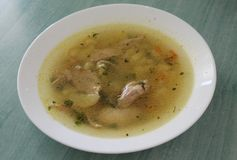 Potage de poulet Images stock