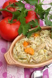 Potage de poulet Photo stock