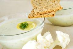 potage de purée de pain croustillant Image libre de droits