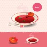 Potage de tomate illustration de vecteur