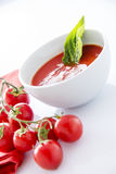 Potage de tomate Images stock