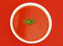 Potage de tomate Photo stock