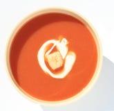 Potage de tomate photographie stock