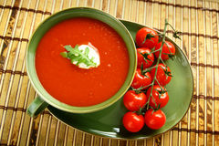 Potage de tomate Photo libre de droits