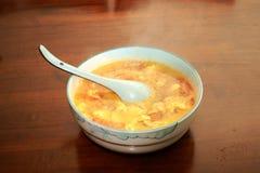 Potage de tomate et d'oeufs Photos stock
