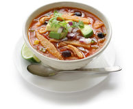 Potage de tortilla, cuisine mexicaine Images stock