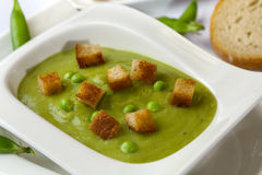 Potage des pois Images stock
