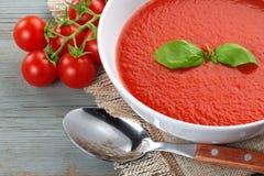 Potage fait maison de tomate Images libres de droits