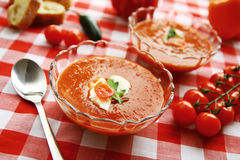 Potage frais de tomate Photo stock