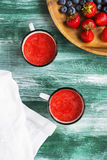 Potage froid de fraise Images stock