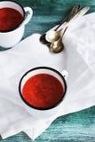Potage froid de fraise Photos stock