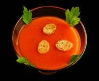 Potage froid de gazpacho de tomate Photo libre de droits
