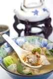 Potage gagné chinois de tonne Photo stock