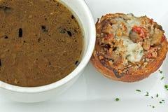 Potage gastronome d'oignon Photos libres de droits