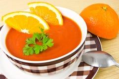Potage orange Images libres de droits