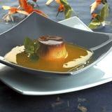 Potage orange avec la crème 01 Photos stock