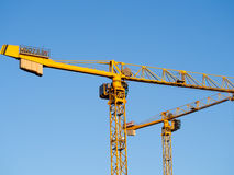 Potain Tower Cranes Royalty Free Stock Photos
