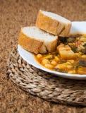 Potaje de Garbanzos y espinacas. Spanish cuisine. Royalty Free Stock Images