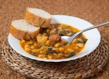 Potaje de Garbanzos y espinacas. Spanish cuisine. Stock Image