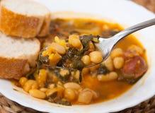 Potaje de Garbanzos y espinacas. Spanish cuisine. Stock Photography