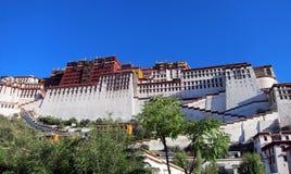 Potala宫殿在西藏 库存图片