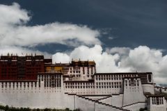 Potala宫殿 达赖・喇嘛位置 拉萨,西藏 库存照片