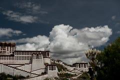 Potala宫殿 达赖・喇嘛位置 拉萨,西藏 图库摄影