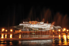 potala παλατιών νύχτας Στοκ Εικόνες