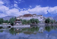 potala παλατιών lhasa Στοκ Εικόνα