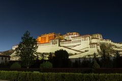potala дворца lhasa Стоковые Фотографии RF