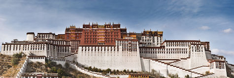 potala дворца lhasa стоковое фото rf